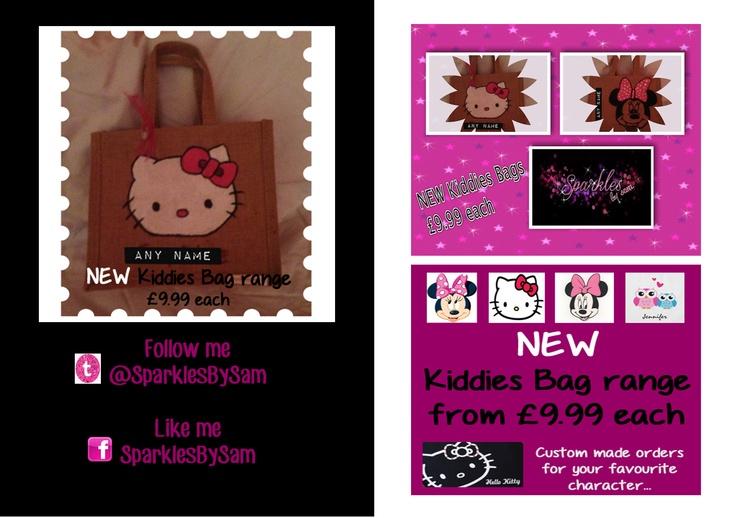 Personalized Jute bags, Kiddies bag range from £9.99