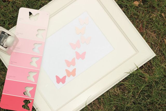 Wright By Me: DIY Butterfly art; hmmm, I see snowflakes and race cars and all sorts of little neat things with this!
