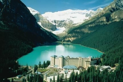 Fairmont Chateau Lake Louise--This is on my family's list of road trip destinations, and the atmosphere of this pic just looks so relaxing and inviting. The hotel also just looks like an incredible place to stay.