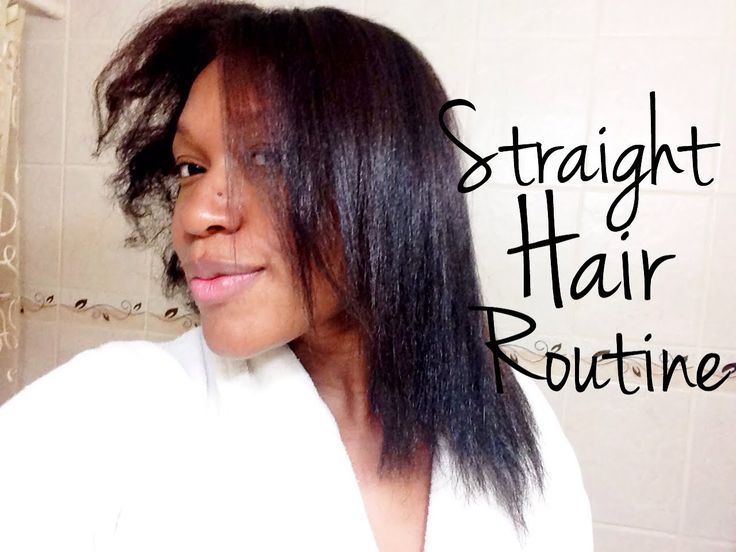 My Straight Hair Routine | Flat Ironing 4b Hair