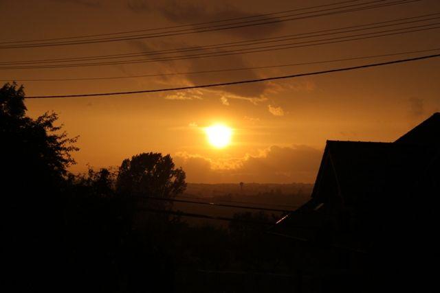 Koziegłówki zachód słońca