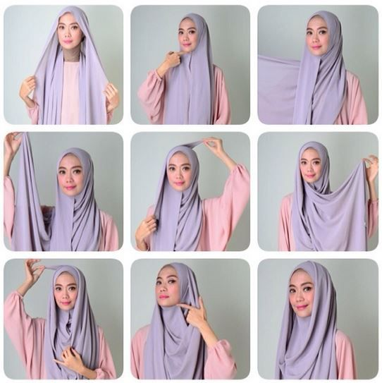 Beautiful Simple Chest Covered Hijab Tutorial