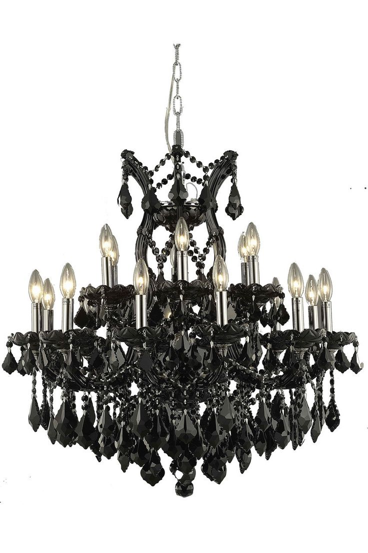 23 best modern chandeliers pendants images on pinterest light maria theresa 19 light jet black chandelier in black finish 2800d30brc mozeypictures Image collections