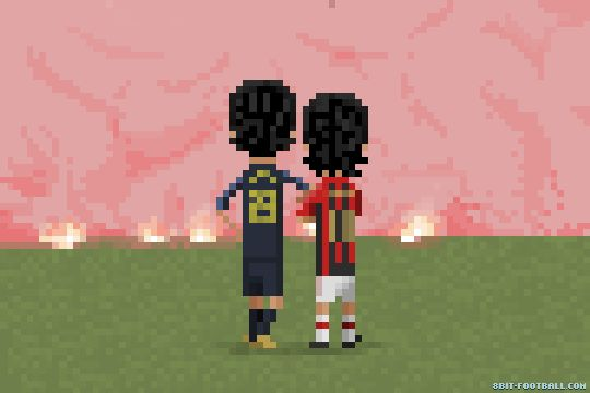 Marco Materazzi and Rui Costa | 8bit Football