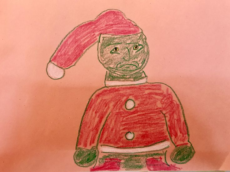 This picture of the Grinch that my nephew drew looks like Ted Kennedy