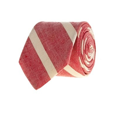 j crew necktie // red and white stripes