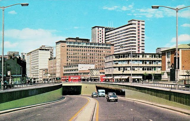 View from the Croydon underpass (Parl Lane) 1960's