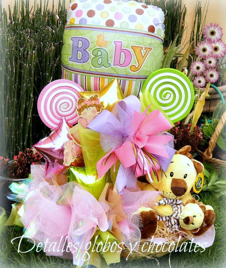"""Baby Shower """"Detalles globos y chocolates"""""""