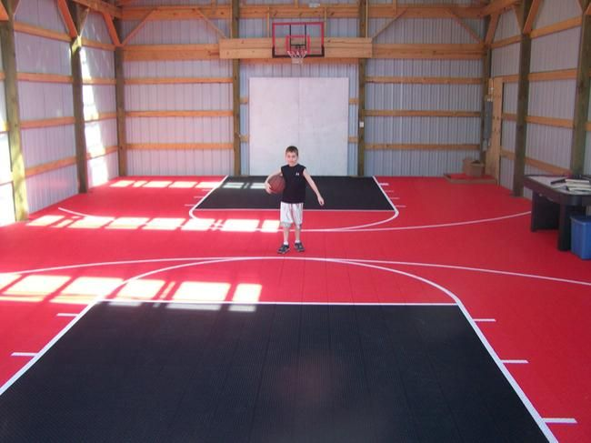 1000 images about indoor basketball courts on pinterest for Basketball hoop inside garage