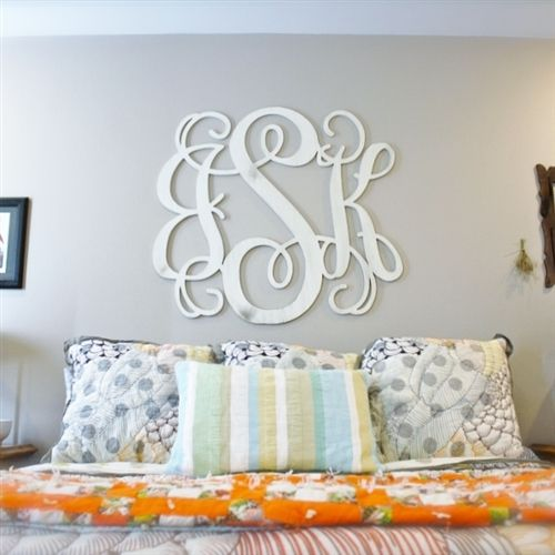 Unfinished Wooden 3-Alphabet Letter Vine Monogram Wall Decor Paintable Cutout DIY Craft Wall Decor