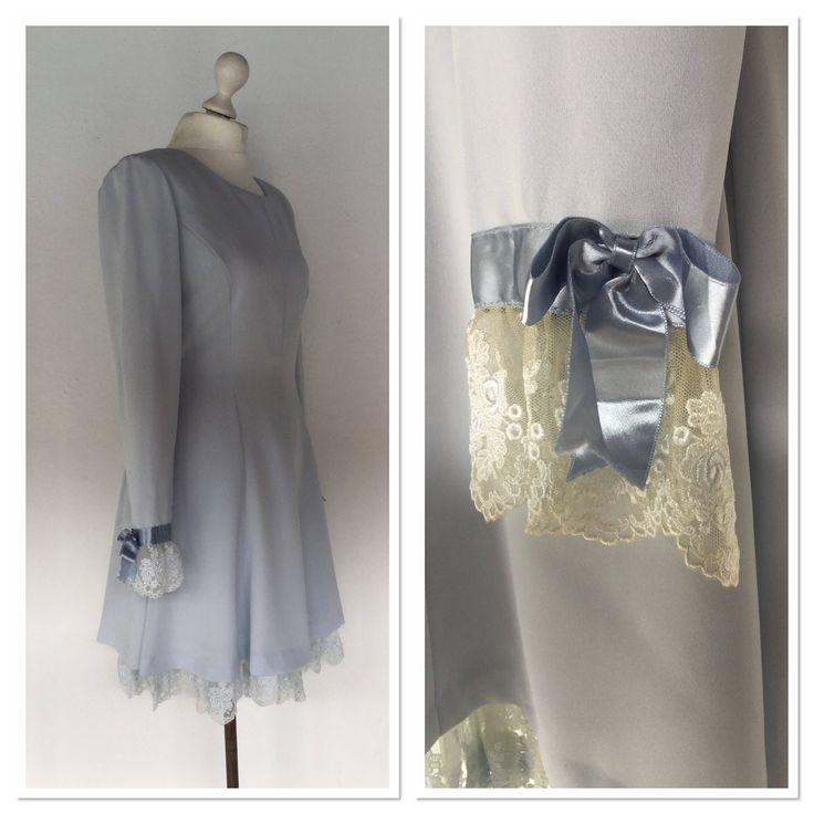 Excited to share the latest addition to my #etsy shop: Ladies Grey Dress, Blue Ribbon Dress, Lace Dress, 90s Grey Dress, Little Bo Peep Dress, Japanese Dress, Size 12 UK http://etsy.me/2HMnrYM #clothing #women #dress #grey #greydress #size12 #baileysbits #littlebopeep