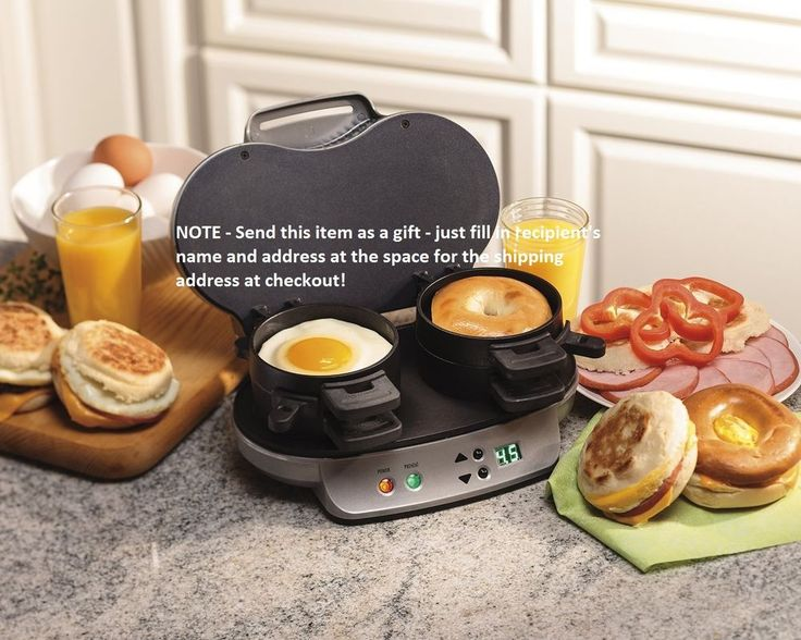 Hamilton Beach 25490A Electric Dual Fast Breakfast Lunch Sandwich Maker Toaster #HamiltonBeachNOTE - Send this item as a gift - just fill in recipient's name and address at the space for the shipping address at checkout!