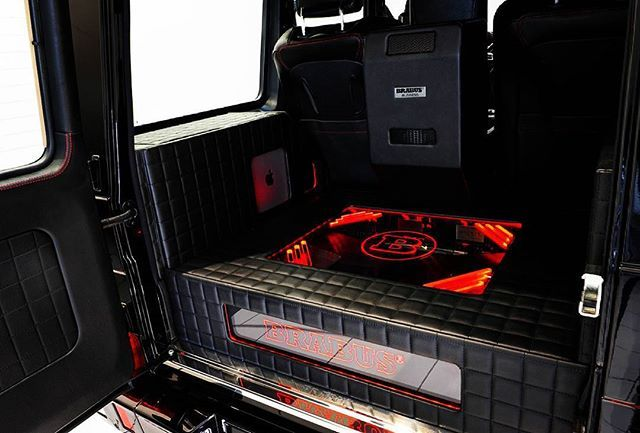 How would you like to see this awesomeness each time you open trunk on you Brabus Mercedes-Benz G 65 800  Photo by Brabus  #Mercedesbenz #g-class#Brabus #luxury #offroad