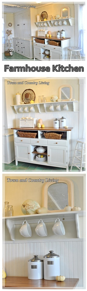 Farmhouse Kitchen at Town and Country Living http://townandcountryliving.blogspot.com