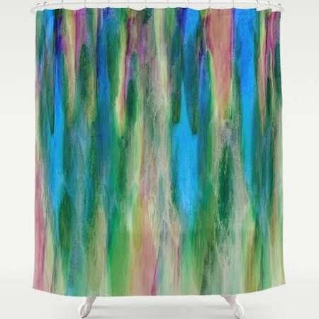 pink and green shower curtain - Google Search