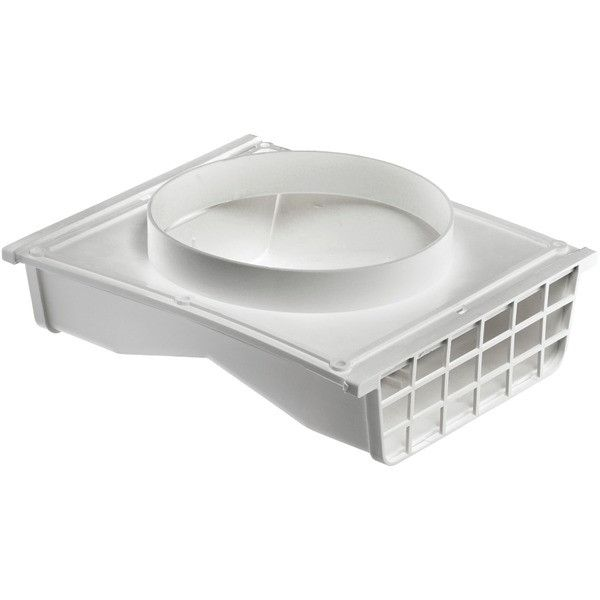 "LAMBRO 164W 4"" x 6"" Plastic Double-Sided Under-Eave Vent"