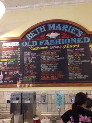Beth Marie's homemade ice cream  Denton, Tx - love this old fashion ice cream parlor...