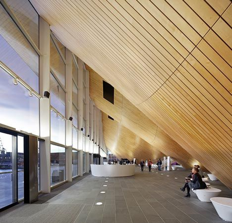 Lobby,  Kilden Performing Arts Center  Kristiansand, Norway  ALA Architects