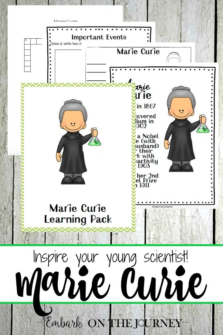 A Marie Curie unit study that is sure to inspire your young learners. It's perfect for Women's History Month {March}! | embarkonthejourney.com via @letsembark