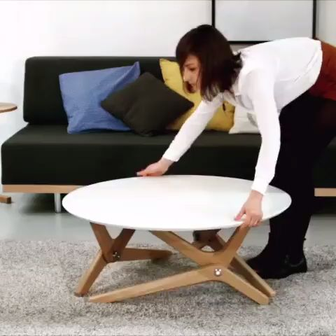 Table transformable design de Boulon Blanc Clic ->…