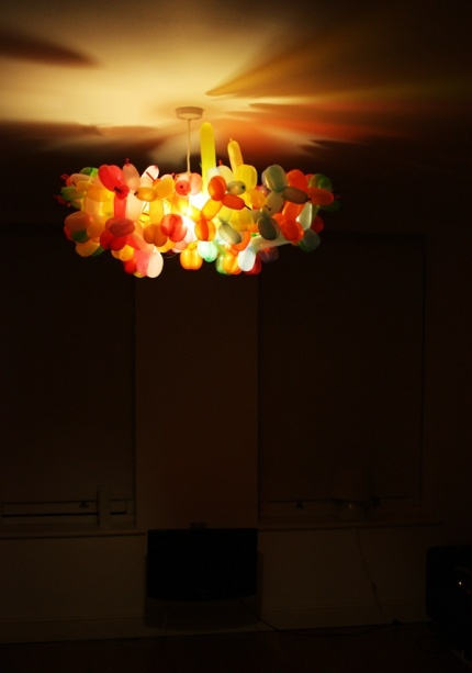 dominic wilcox's balloon animal chandelier