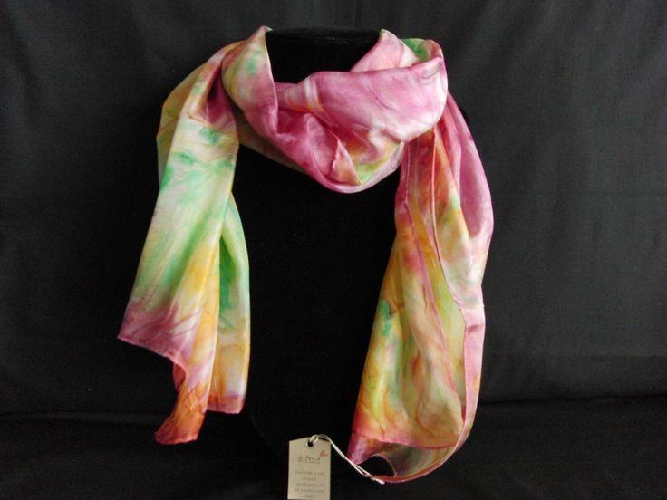 handbeschilderde zijden sjaal | zijde 1404