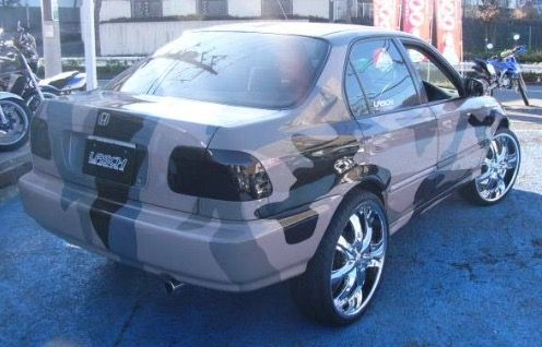 "Honda Civic Sedan EK 20"" or 22"" Rims Donk Modified"