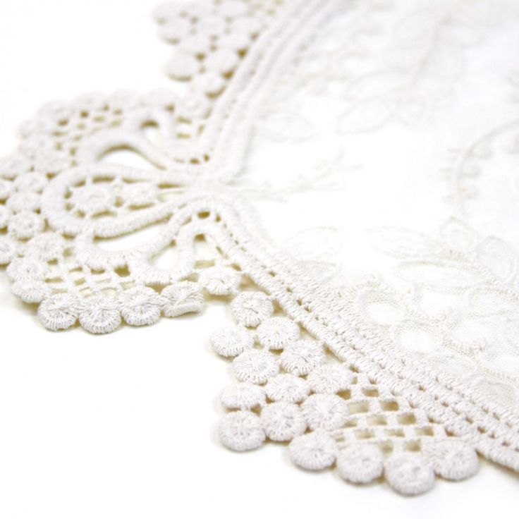 lace floral embroidered table runner ivory 424653 wholesale wedding supplies discount