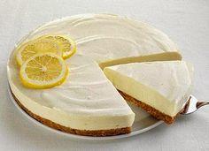 Pay de limon con base de galletas maria