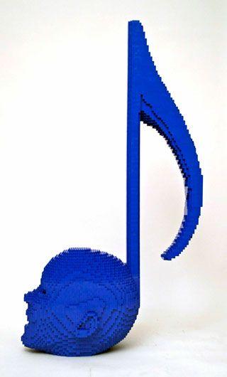 Musical lego art by Nathan Sawaya.