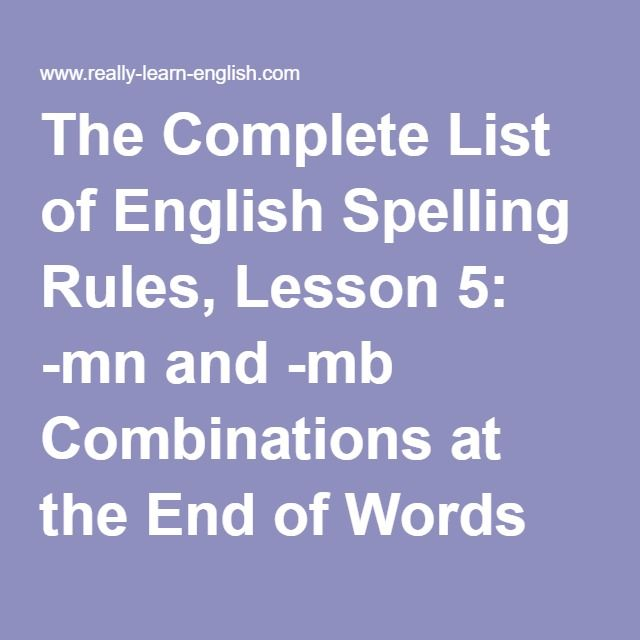 complete list of english grammar rules pdf