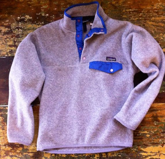 Vintage 90's patagonia fleece pullover by flannelSHACK on Etsy--- I want one of these! I dont even care what color