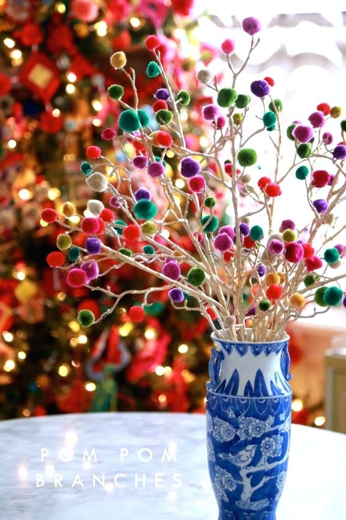 craft branches pom gum drop with pine tree for sale