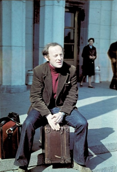 Joseph Brodsky just before leaving the Soviet Union for political reasons. He never came back.