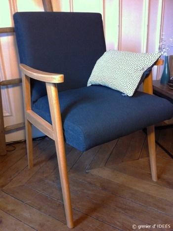 fauteuil scandinave, relooking