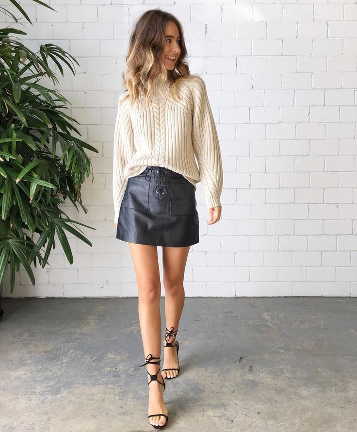 Outfit Love | The Ivy Leather Lace Up Skirt || Splice Boutique