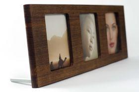 Portafoto artigianale multiplo, formato 9x13 cm, disponibile in differenti essenze lignee. #artigianato #madeinitaly #portafoto #complementiarredo