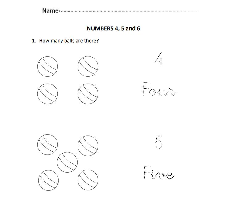 Easy and visual worksheet to introduce written numbers