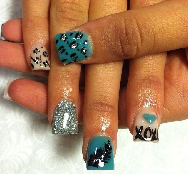 Acrylic nails by Thelma at Thelma's VIP Nail Salon and Spa