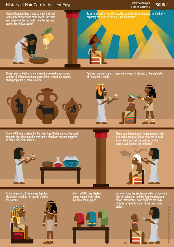 History of Hair Care in Ancient Egypt Infographic