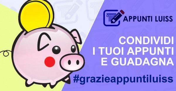 Appunti Luiss » Share, Download, Succeed. » Condividi e Guadagna!