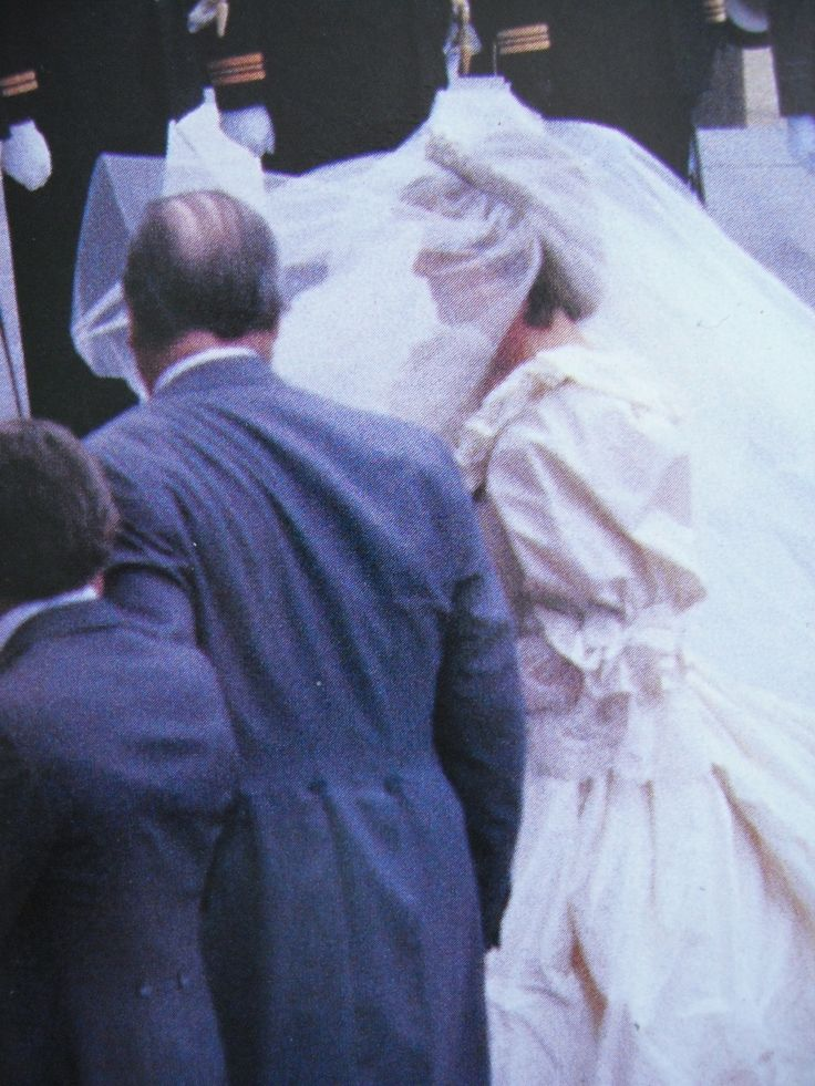 Lady Diana Spencer On Her Wedding Day