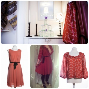 Two styles which look lovely together, a pretty dress and a pretty blouse from Numph clothing.