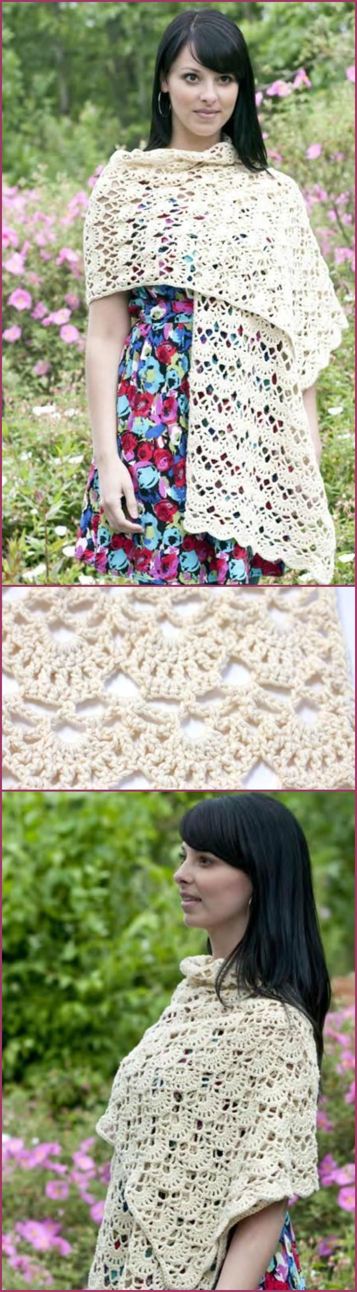 100 Free Crochet Shawl Patterns - Free Crochet Patterns - Page 2 of 19 - DIY & Crafts
