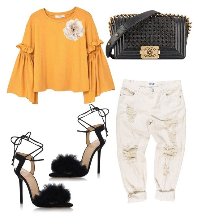"""""""Untitled #1233"""" by mala-palcica ❤ liked on Polyvore featuring MANGO, Chanel, Charlotte Olympia and Cara"""