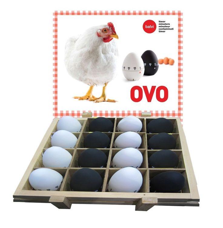 Minutnik kuchenny w kształcie jajka, czarny