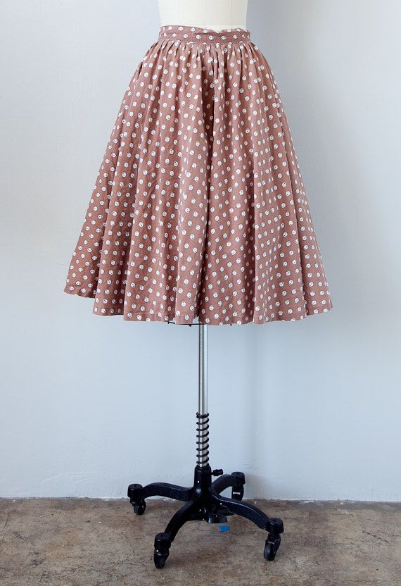 vintage 1950s skirt / vintage 50s skirt / circle skirt / novelty print retro 50s skirt