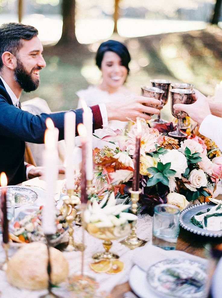 Our collection of Brass Candlesticks and Silver Goblets add a touch of metallic and tons of charm to this recent styled shoot at Berkeley Plantation by Tart Event Co, Amanda Burnette Florals and Nikki Santerre Photography!