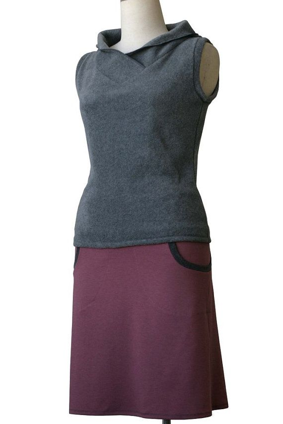 Womens skirt. Jersey skirt with pockets. A line by tasifashion