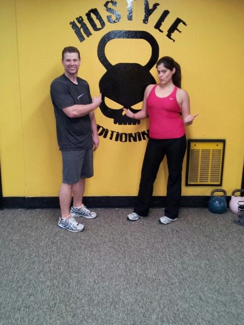 After  a great workout it's photo op time.  Steph and Brian always SMASH IT hard!